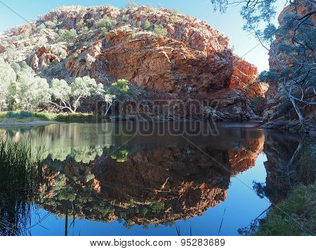 Reflection in the pond of Ellery Creek Big Hole