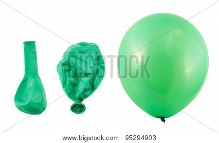 Three stages of balloon inflation isolated