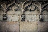 details of Palau de la Generalitat de Catalunya at Gothic Quarter in Barcelona Spain poster