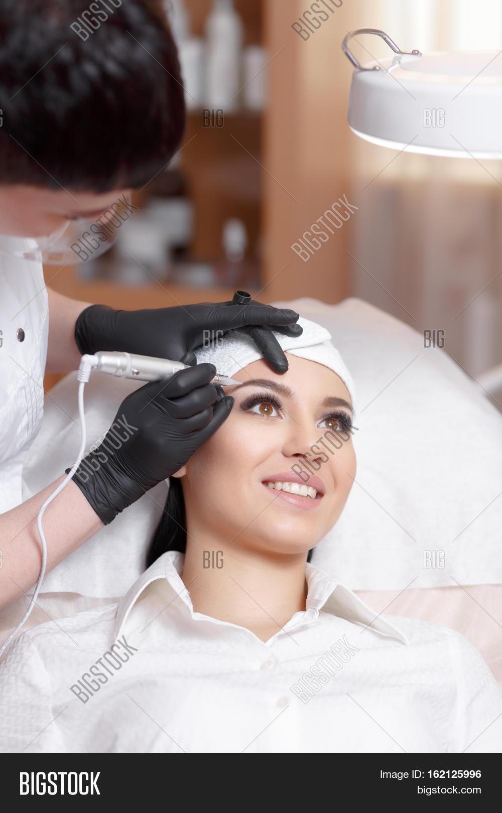 Cosmetologist Applying Image Photo Free Trial Bigstock