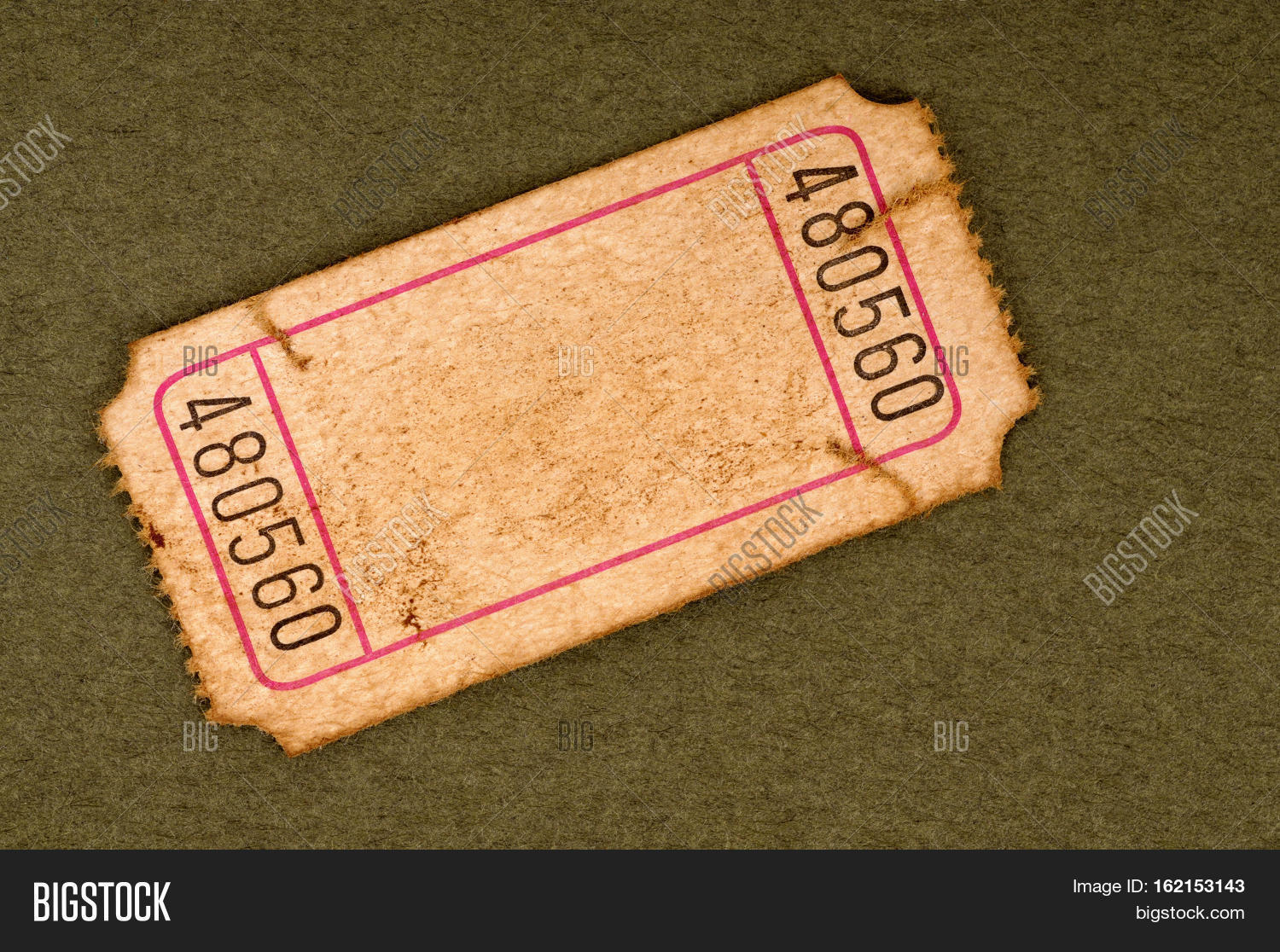 old blank ticket stub image photo free trial bigstock