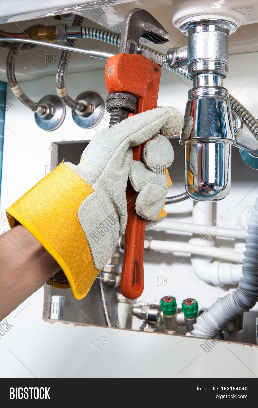 Plumbing Work Sanitary Engineering Image & Photo | Bigstock