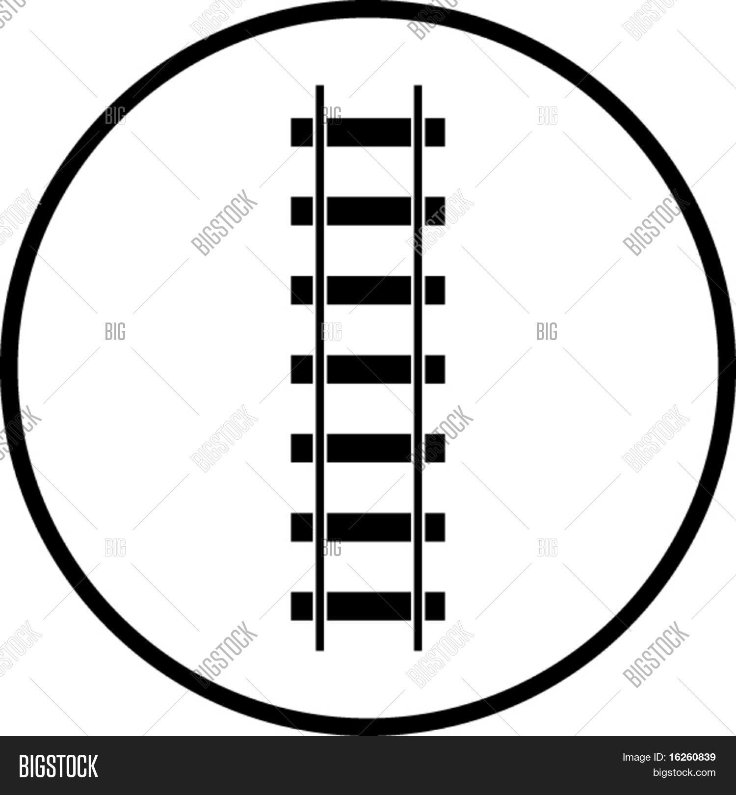 Railroad Symbol Vector & Photo (Free Trial) | Bigstock