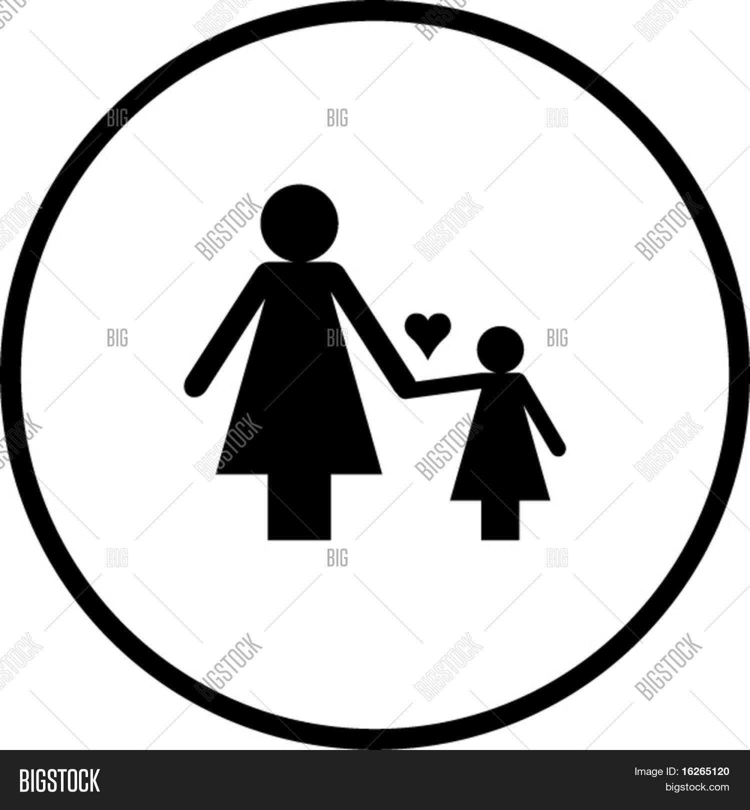 Mother Daughter Vector Photo Free Trial Bigstock
