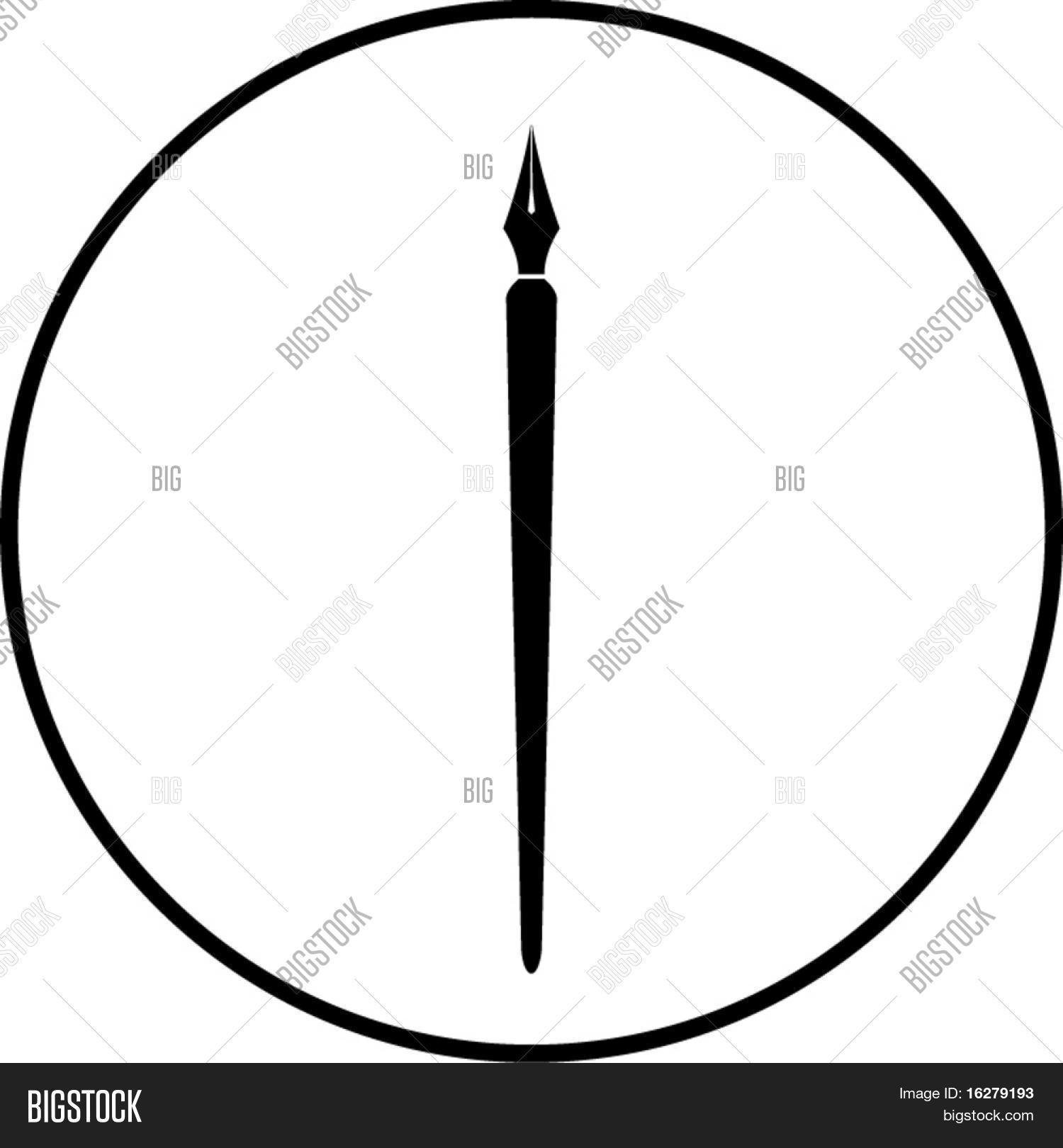 Pen Symbol Vector & Photo (Free Trial) | Bigstock