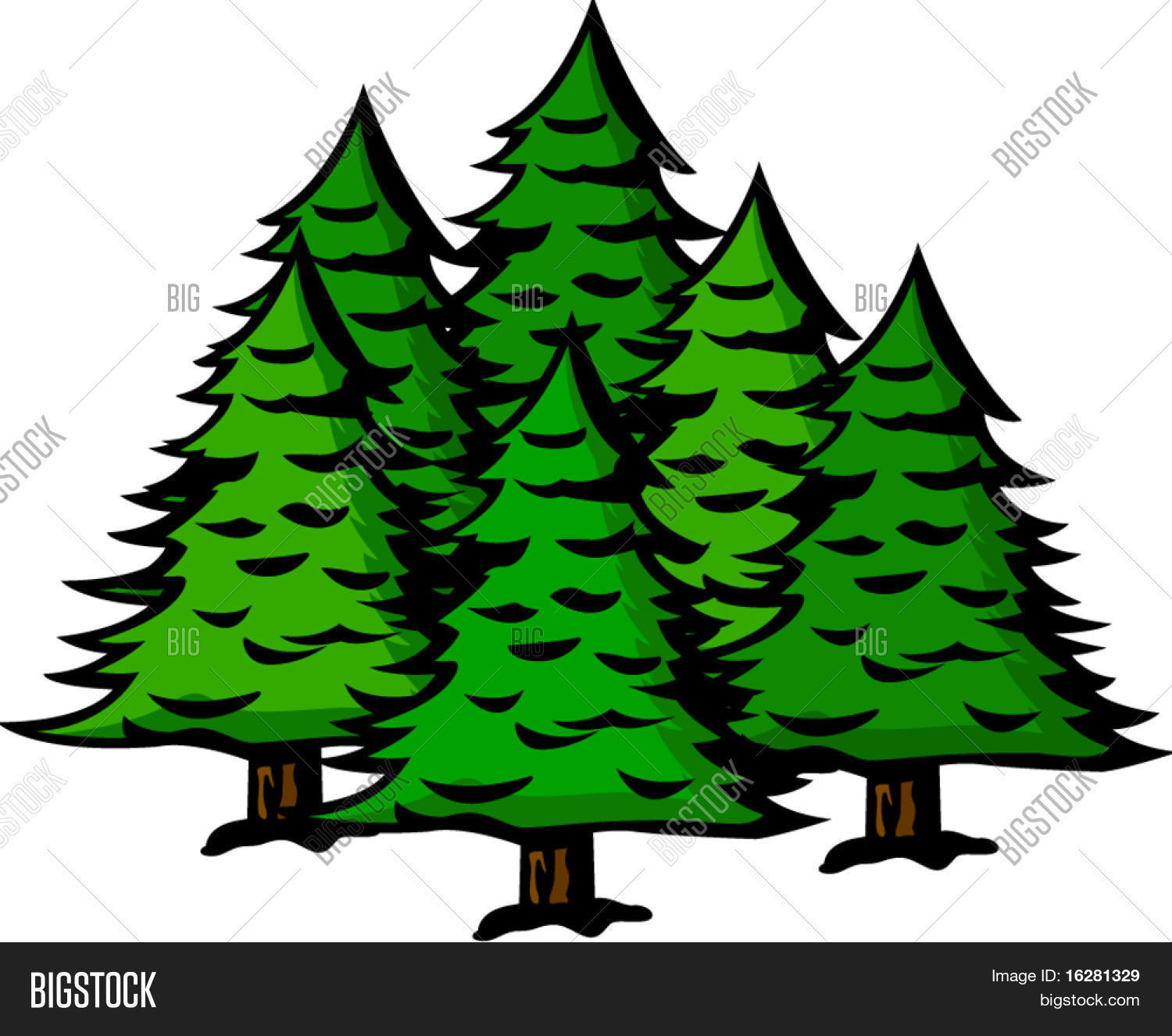 Pine Trees Vector  for Pine Tree Animated  113cpg
