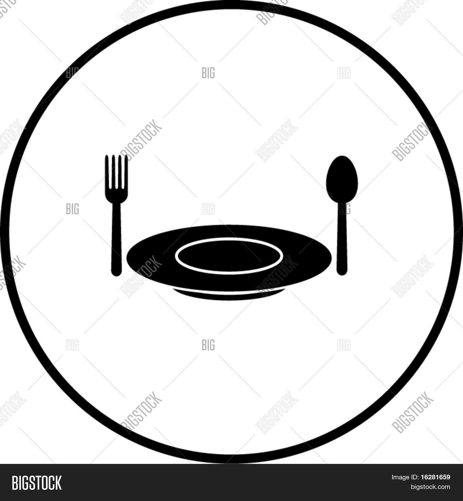 Dish Fork Spoon Vector Photo Free Trial Bigstock