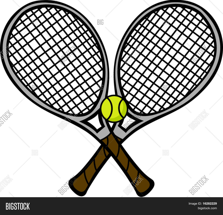 Tennis Rackets Ball Vector Photo Free Trial Bigstock
