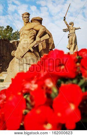 Russia Volgograd Stalingrad. City of 2018 FIFA World Cup. The memorial complex
