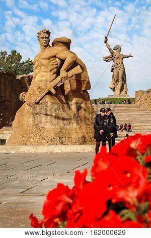 Russia Volgograd Stalingrad - october 2016: City of 2018 FIFA World Cup. The memorial complex
