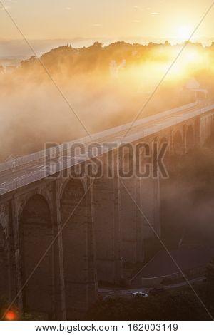 Sunrise in Dinan, France. Dinan Brittany France