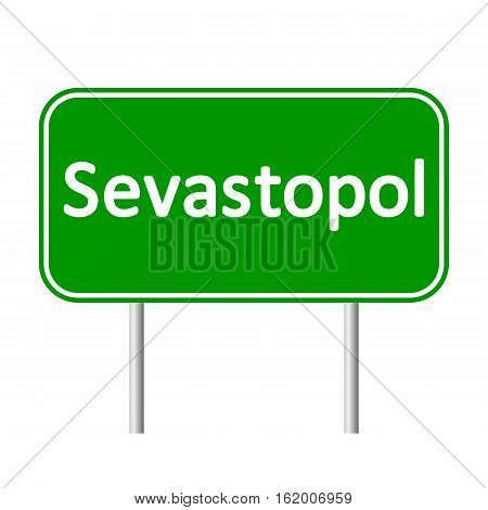 Sevastopol road sign isolated on white background.