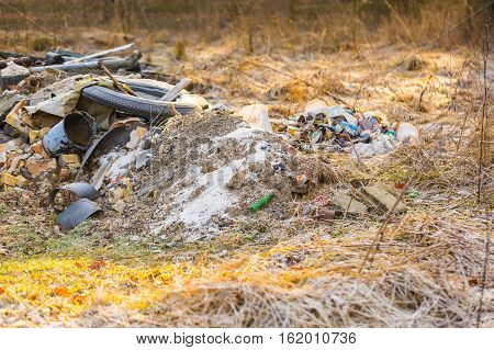 Unlegal Dump Near Forest