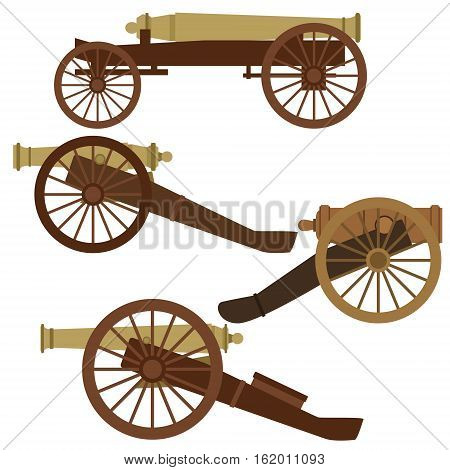 Vintage smoothbore gun. The illustration on a white background.