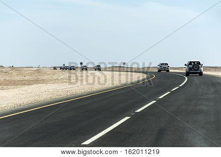 Offroad Tour safari road in the desert in Oman Salalah 8