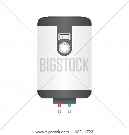 Electric boiler flat icon water heater isolated on white background. vector illustration