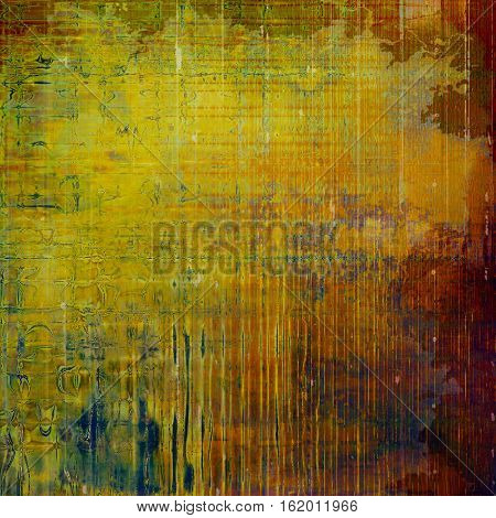 Abstract retro design composition. Stylish grunge background or texture with different color patterns: yellow (beige); brown; green; blue; red (orange); purple (violet)