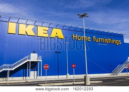 Las Vegas - Circa December 2016: IKEA Home Furnishings Store. Founded in Sweden IKEA is the world's largest furniture retailer IV