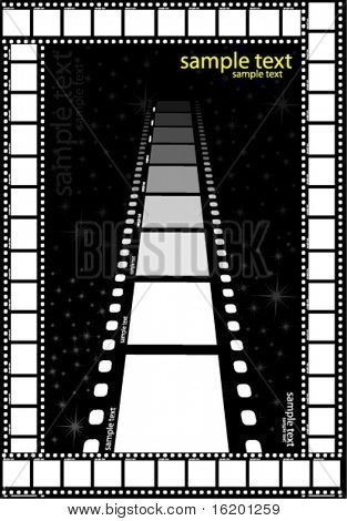 film strips over white background