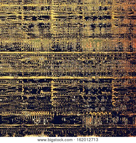 Retro style texture for your layouts. Grunge background with different color patterns: yellow (beige); brown; green; gray; red (orange); purple (violet)