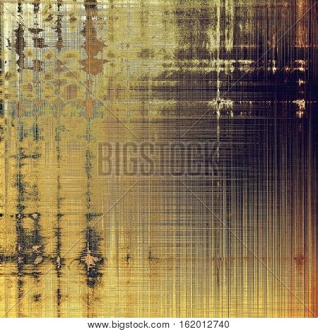 Creative grunge background in vintage style. Faded shabby texture with different color patterns: yellow (beige); brown; gray; purple (violet)