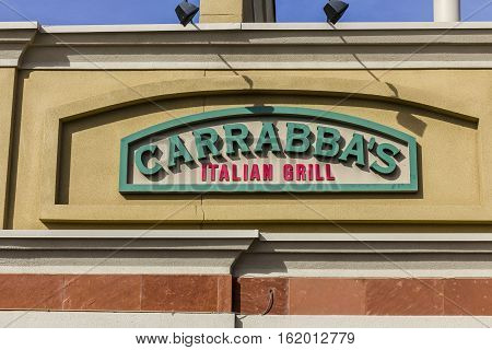 Las Vegas - Circa December 2016: Carrabba's Italian Grill Signage and Logo. Carrabba's is a restaurant chain specializing in Italian-American food I