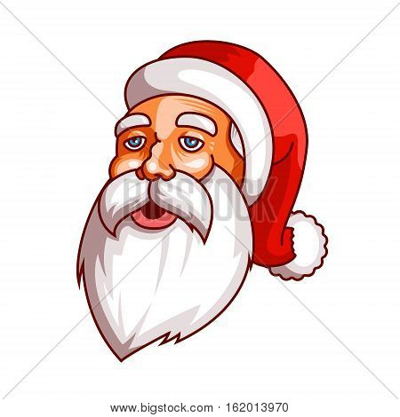 Santa claus emotions. Part of christmas set. Ready for print. Tired, weary EPS10