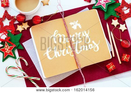 Merry Christmas Text Book Message Holiday Toy