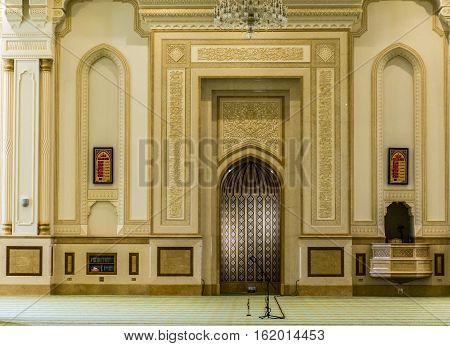 Sultan Qaboos Grand Mosque in Salalah, Dhofar Region of Oman. 7