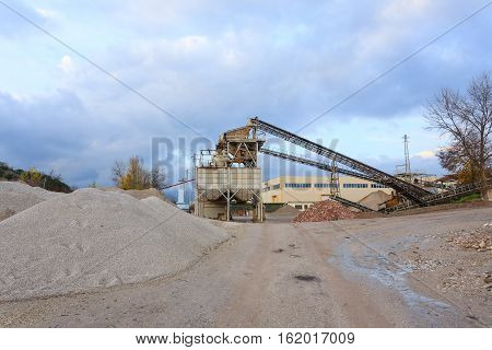 Stone Quarry With Silos