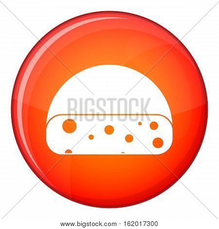 Dutch cheese icon in red circle isolated on white background vector illustration