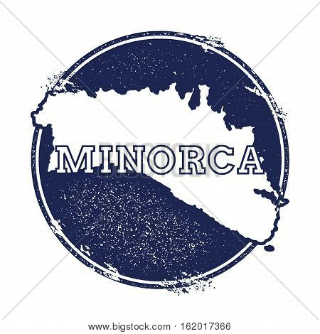 Minorca Vector Map. Grunge Rubber Stamp With The Name And Map Of Island, Vector Illustration. Can Be