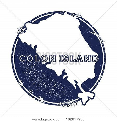 Colon Island Vector Map. Grunge Rubber Stamp With The Name And Map Of Island, Vector Illustration. C