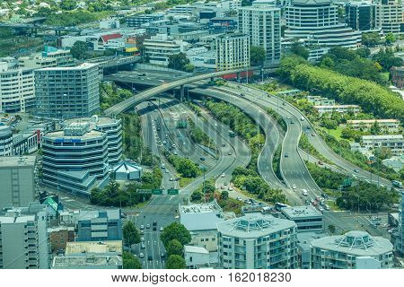 Auckland New Zealand- December 12 2013. Highway in Auckland city.