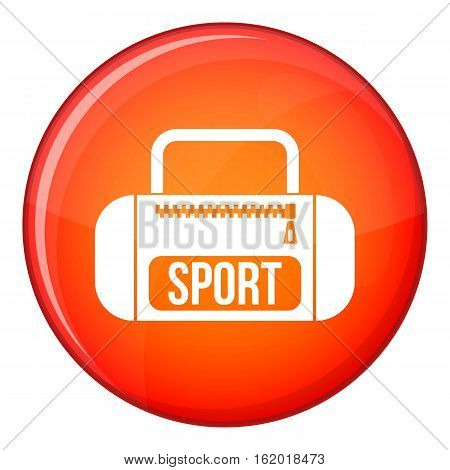 Sports bag icon in red circle isolated on white background vector illustration