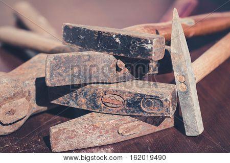 vintage hammer old tools rusty hammer -