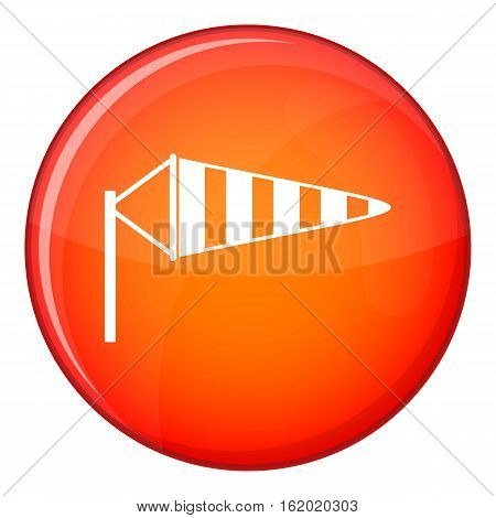 Windsock icon in red circle isolated on white background vector illustration