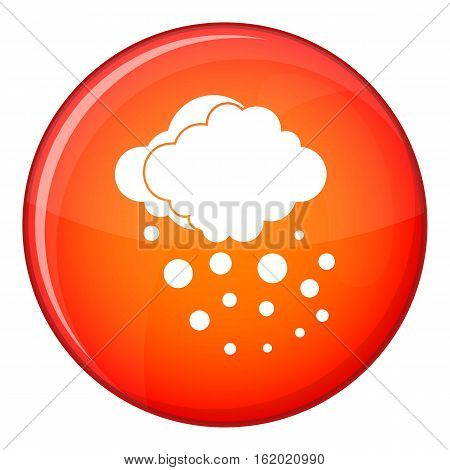 Cloud with hail icon in red circle isolated on white background vector illustration