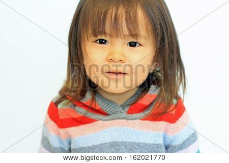 Smiling cute Japanese girl (2 years old)