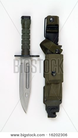 American M9 Bayonet As Used In Afghanistan And Iraq.