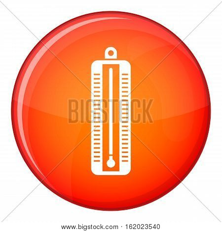 Thermometer indicates low temperature icon in red circle isolated on white background vector illustration