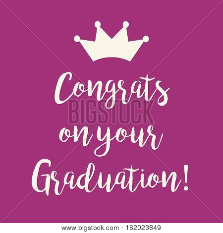 Purple Pink Congrats On Your Graduation Greeting Card