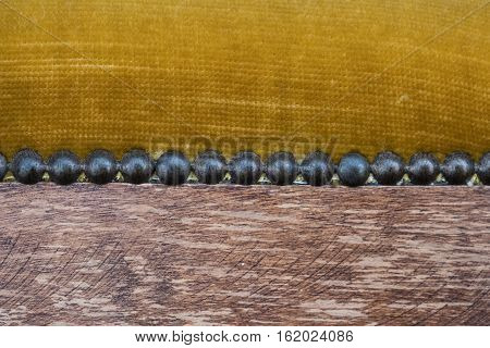 Macro Of Antique Furniture -  Vintage Furniture Detail