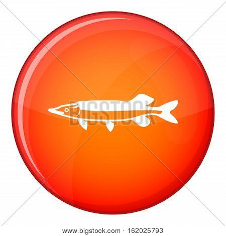 Saury icon in red circle isolated on white background vector illustration