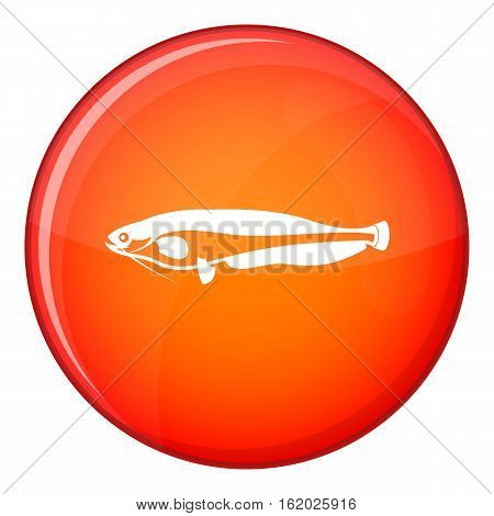 Atlantic mackerel, Scomber scombrus icon in red circle isolated on white background vector illustration