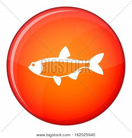 Rudd fish icon in red circle isolated on white background vector illustration