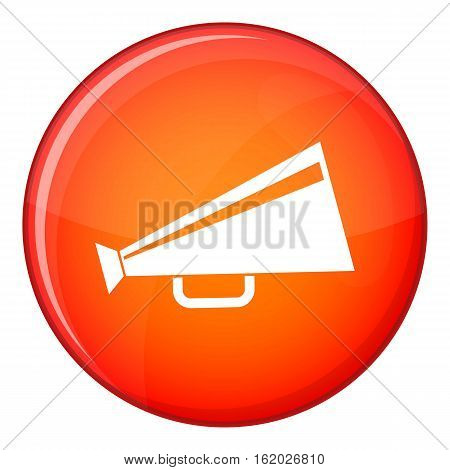 Mouthpiece icon in red circle isolated on white background vector illustration