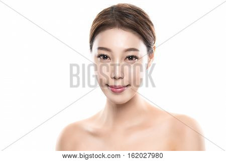 20s young asian female studio beauty photo shoot - isolated