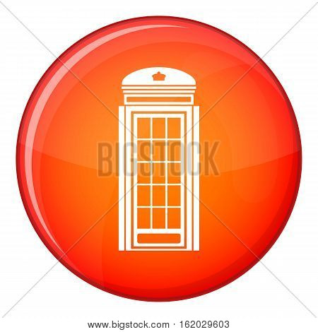Phone booth icon in red circle isolated on white background vector illustration
