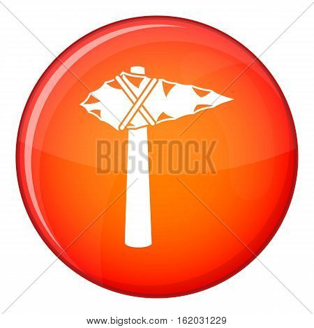 Ancient hammer icon in red circle isolated on white background vector illustration